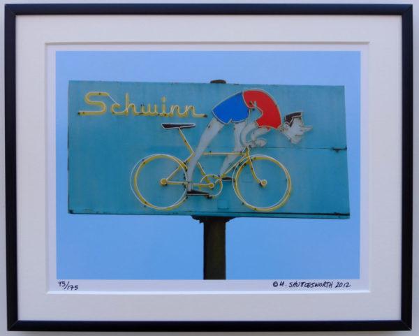 8x10 Schwinn Bike Shop framed