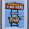 8x10 Cattleman's Club & Cafe Framed