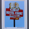 8x10 Chief Hotel Court Framed