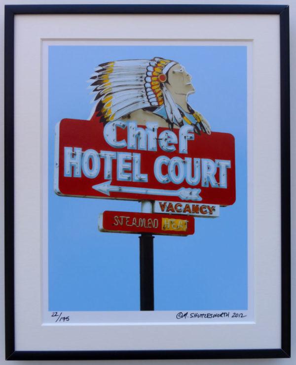 8x10 Chief Hotel Court Framed