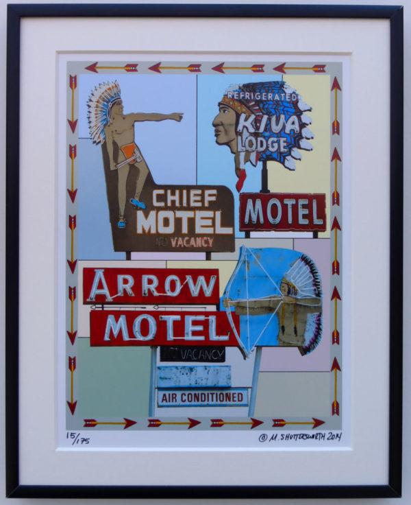 8x10 Multiple Chief Motels Framed