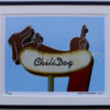 8x10 Chili Dog framed