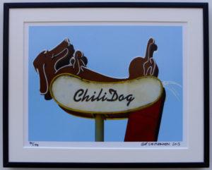 8x10 Chili Dog framed