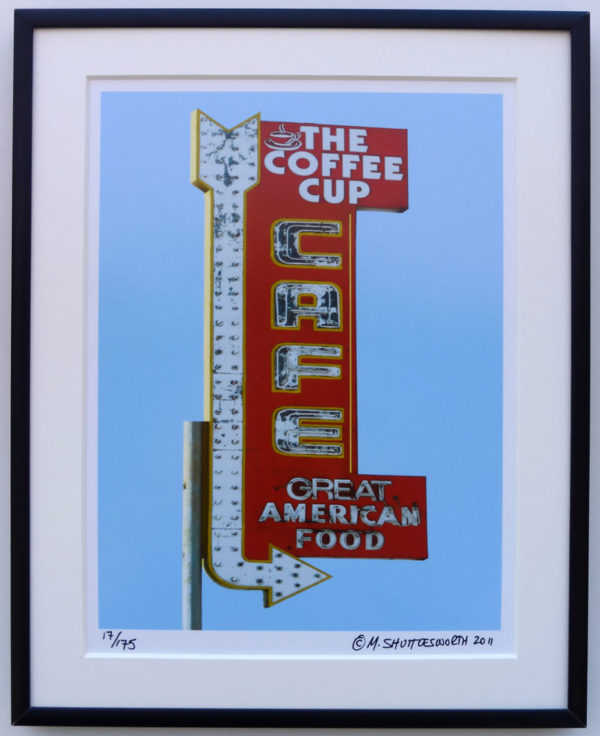 8x10 Coffee Cup Cafe Framed