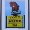 8x10 Cozy Drive In framed