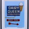 8x10 Dairy Queen Vintage Neon Framed