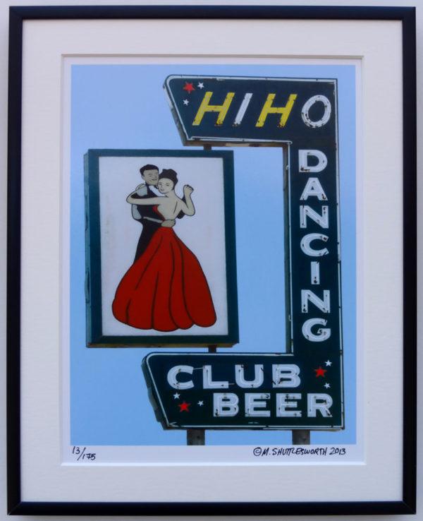 8x10 HiHo Dancing Club framed