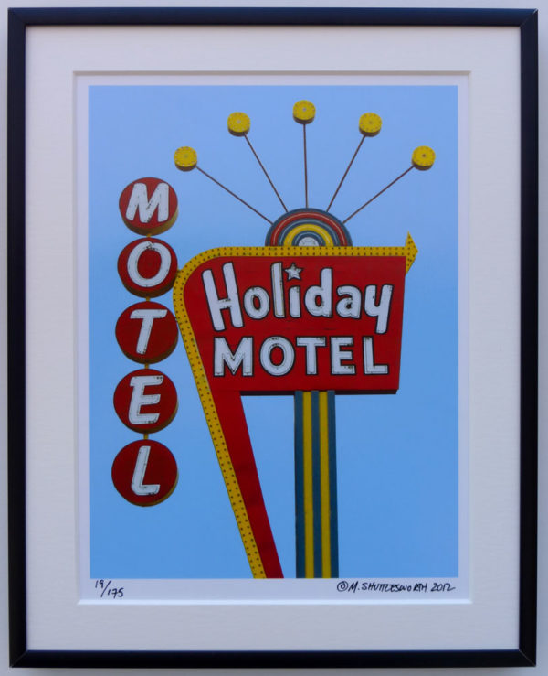 8x10 Holiday Motel Framed