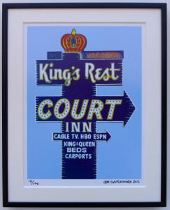 8x10 Kings Rest Court Framed