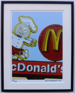 8x10 McDonalds Vintage Neon Framed