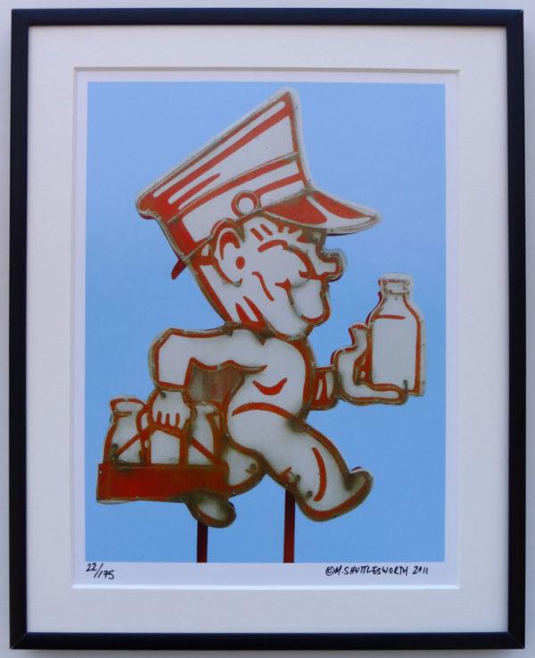 8x10 Milkman Vintage Neon Sign Framed