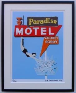 8x10 Paradise Motel Framed