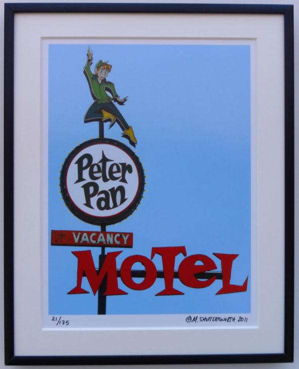 8x10 Peter Pan Motel Framed