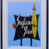 8x10 Safari Inn Neon Sign Framed