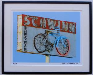 8x10 Schwinn Bicycle framed