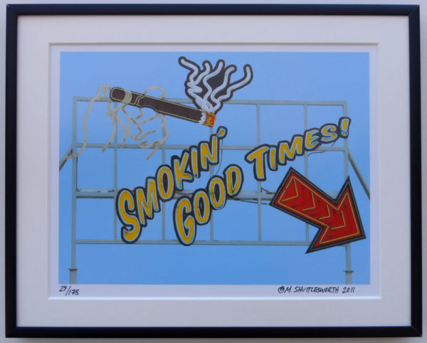 8x10 Smokin' Good Times framed
