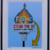 8x10 The Flame Restaurant Framed
