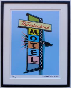 8x10 Thunderbird Motel Framed