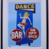 8x10 Tipsy Dancing Lady framed