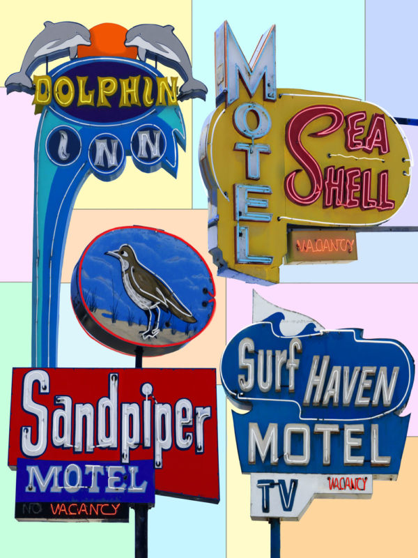 4 Beach Motel Neon
