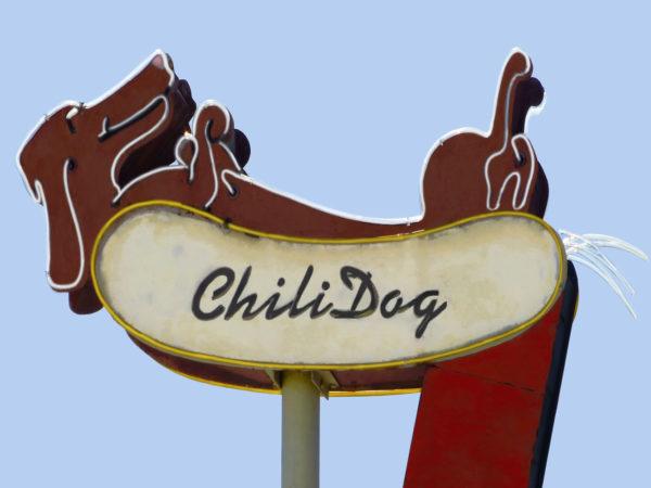 Chili Dog Vintage Neon