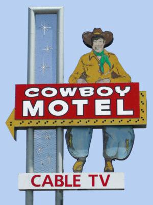 Cowboy Motel Sign