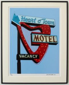 "16""x20"" Heart 'O Town Motel in Frame"