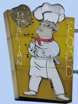 Italian Food Vintage Neon