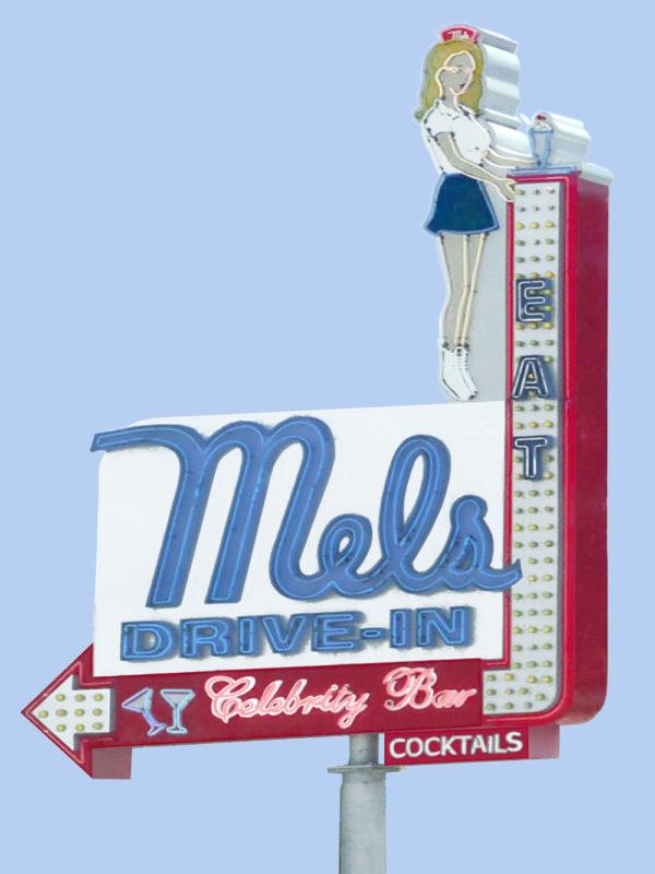 Mel's Diner Neon Sign