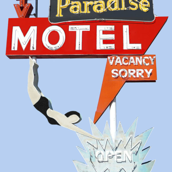 Paradise Motel Neon Sign