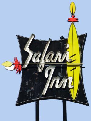 Safari Inn Neon Sign