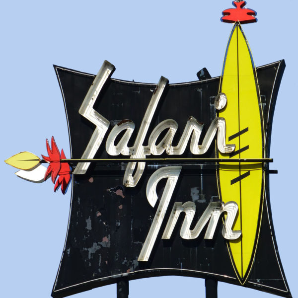 Safari Inn Neon Sign