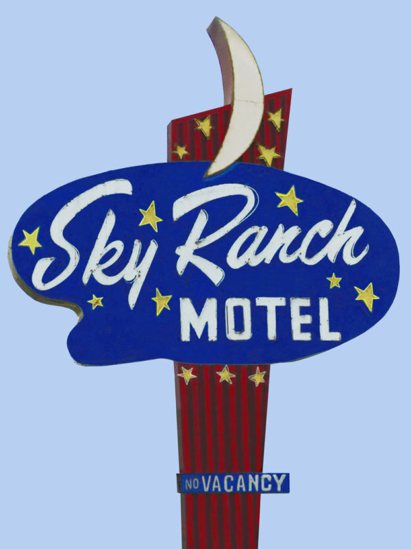 Sky Ranch Motel Neon Sign