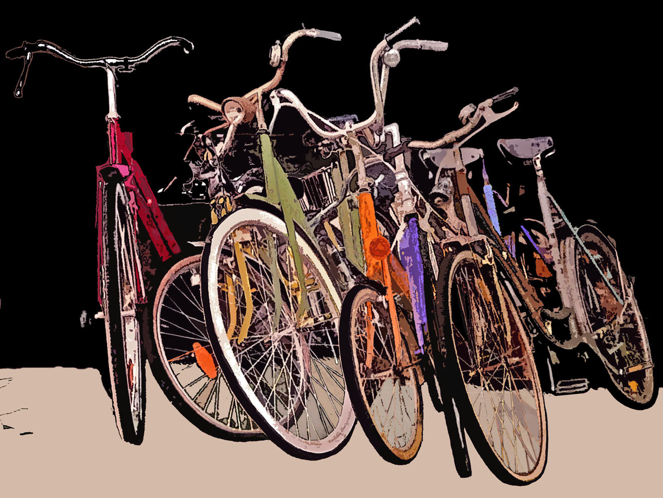 Group of Bicycles