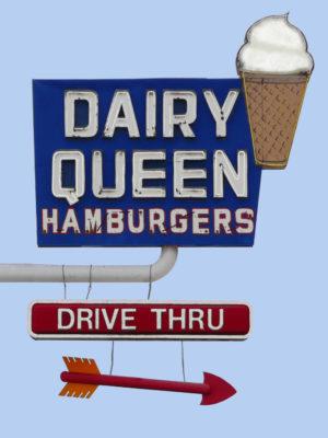 Dairy Queen Vintage Neon
