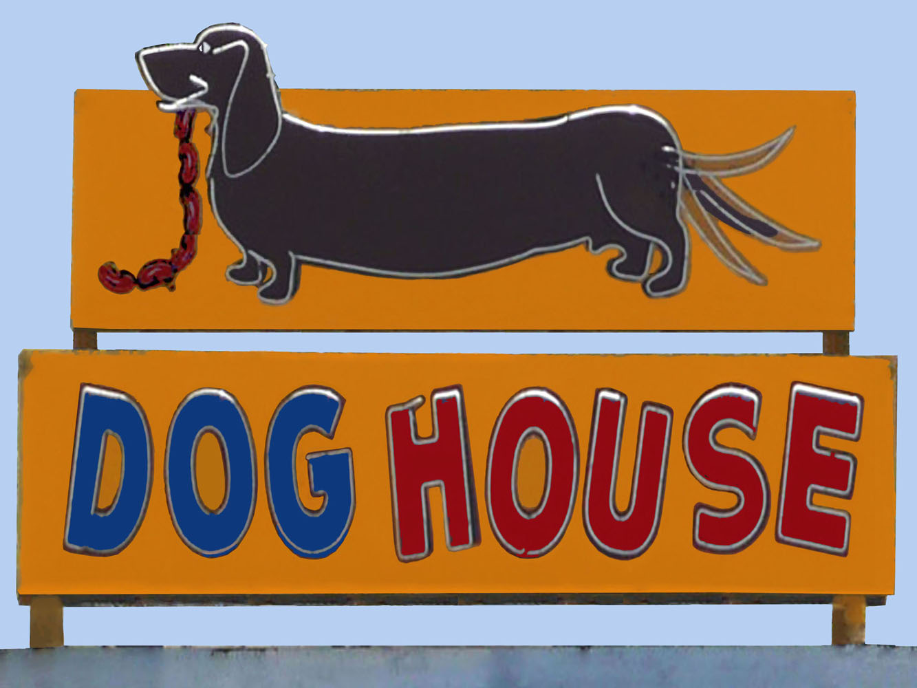 Dog House Vintage Neon