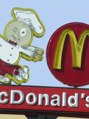 McDonalds Vintage Neon
