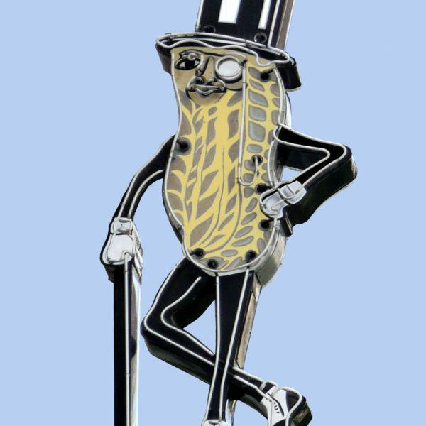 Mr Peanut Vintage Neon