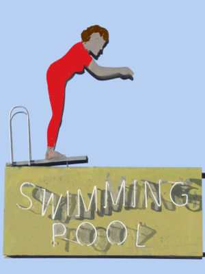 Swimming Pool Vintage Neon