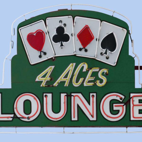 4 Aces Lounge Vintage Neon Sign