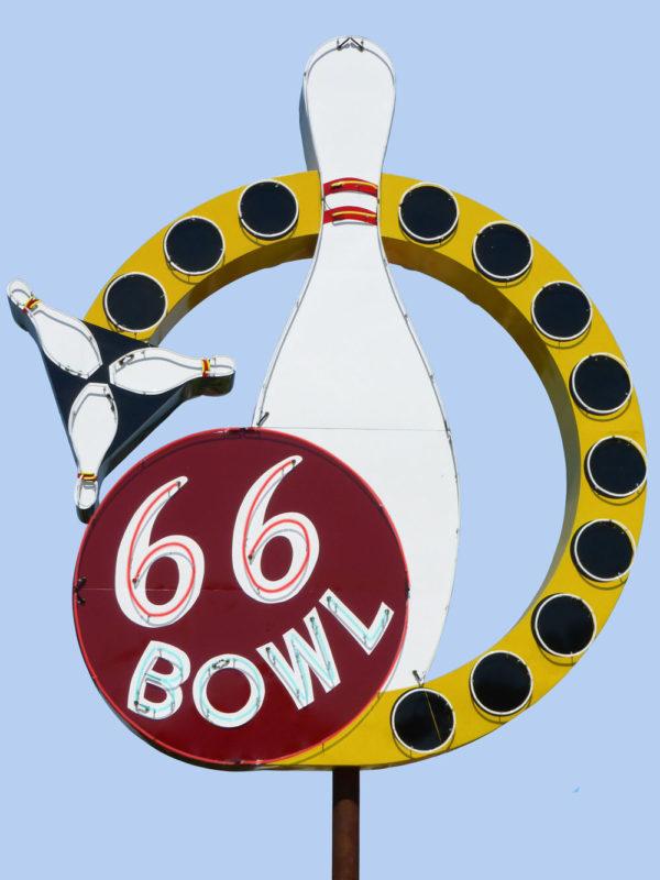 66 Bowl Vintage Neon Sign
