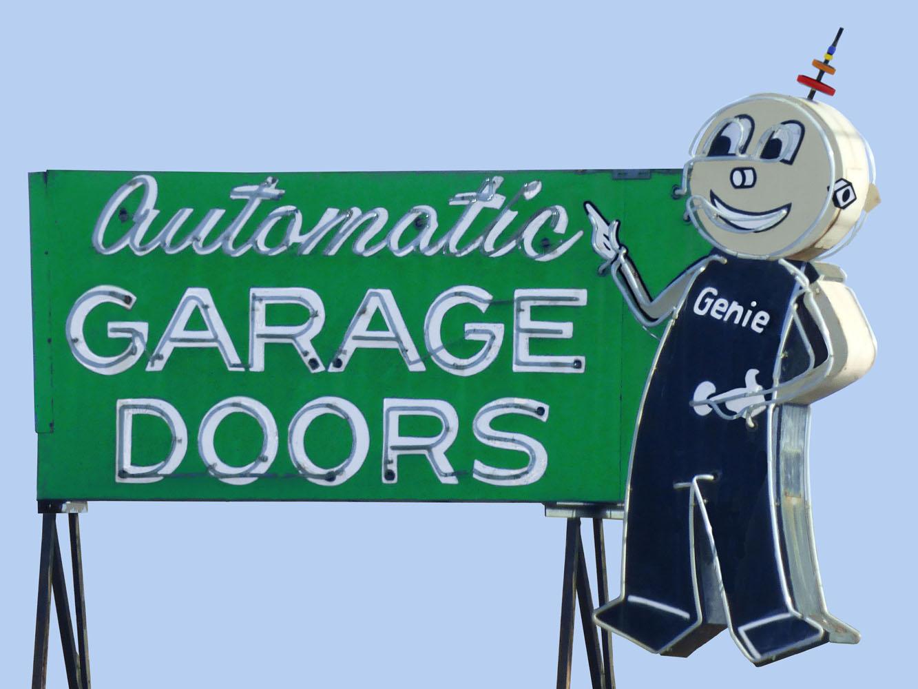 Automatic Garage Doors Vintage Neon Sign