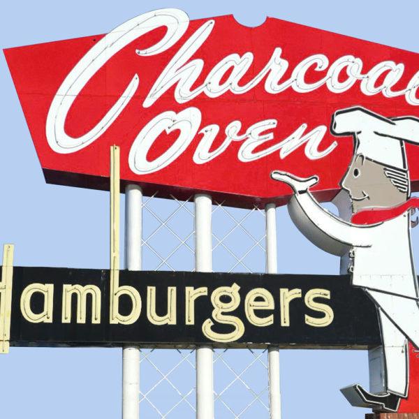 Charcoal Oven Hamburgers
