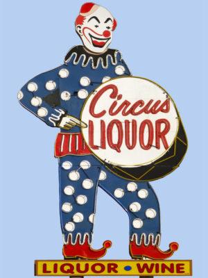 Circus Liquor Vintage Neon Sign