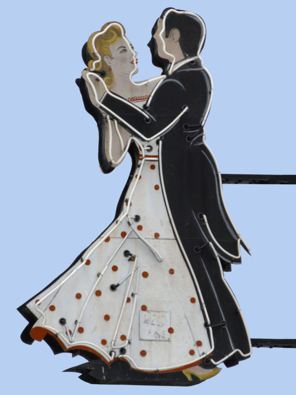 Dancing Couple Vintage Neon