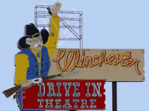Winchester Drive In Vintage Neon Sign