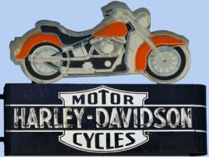 Harley Davidson Vintage Neon Sign Photograph