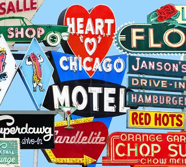 Fine art photography of vintage neon signs in Chicago.