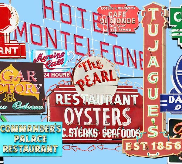 Fine art photography of vintage neon signs in New Orleans.
