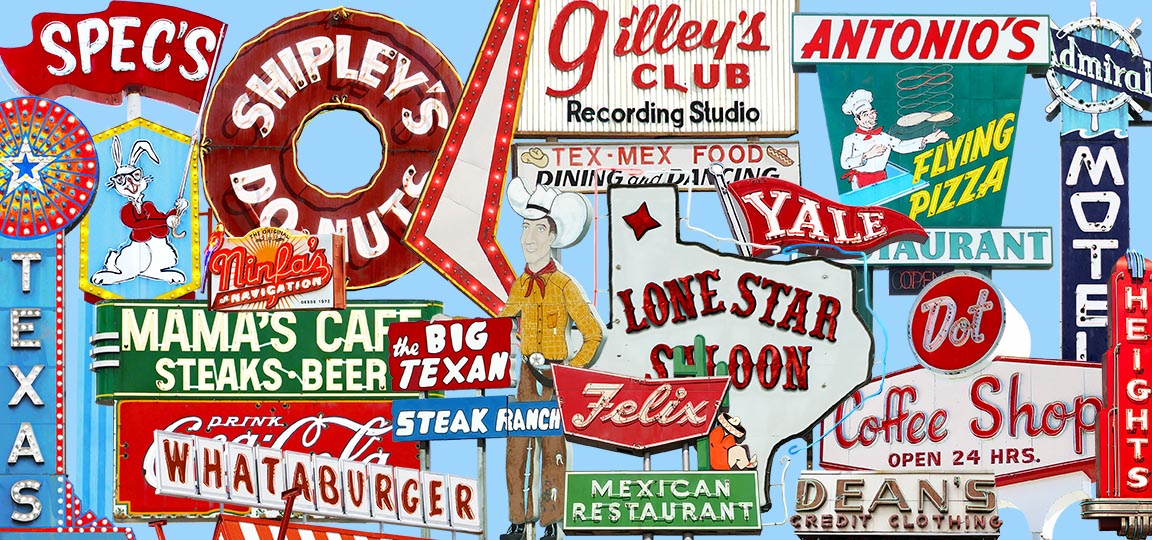Vintage Signs of Texas - Houston